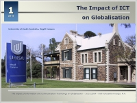Presentation: The Impact of ICT on Globalisation; 20041016